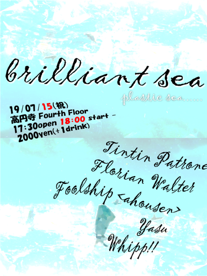 flyer of brilliant sea